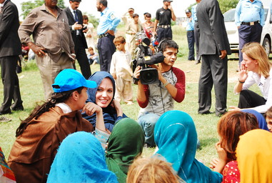 Angelina Jolie visits Afghan Refugee in I-12