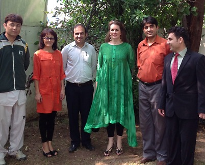 Cristal and Shukoor Ullah Baig with Curiosity Community Library team in Islamabad